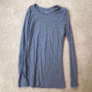 long sleeve gray cotton t-shirt